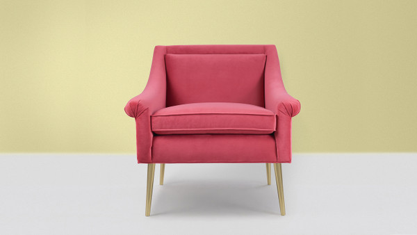 Eryk Accent Chair, Garnet Rose