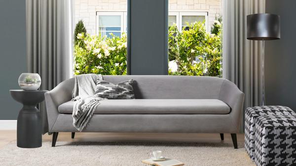 Lia Mid-Century Modern Sofa, Opal Grey