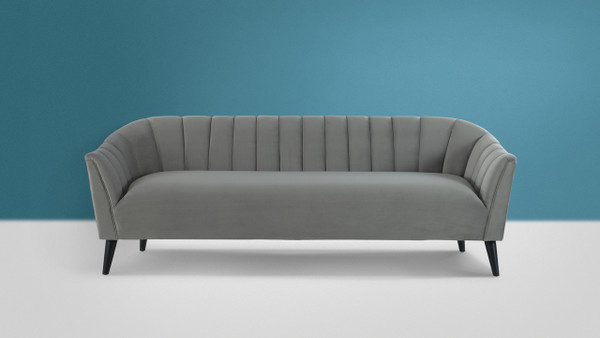 Sienna Channel Tufted Sofa, Opal Grey