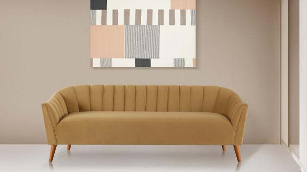 "Sienna 81"" Channel Tufted Sofa"