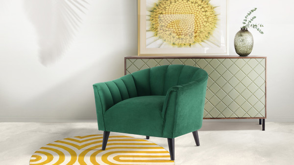 Sienna Accent Arm Chair, Evergreen