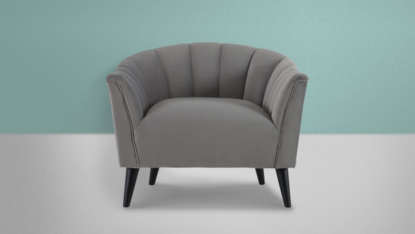 Sienna Accent Arm Chair, Opay Grey
