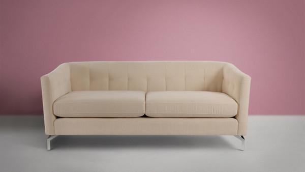 Arlene Modern Contemporary Sofa, Crème Brulee