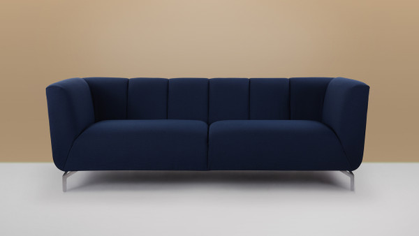 Abella Modern Contemporary Sofa, Midnight Blue