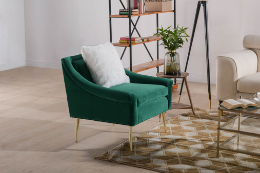Eryk Accent Chair, Evergreen