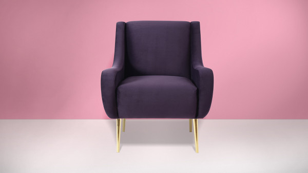 Corina Accent Chair, Purple