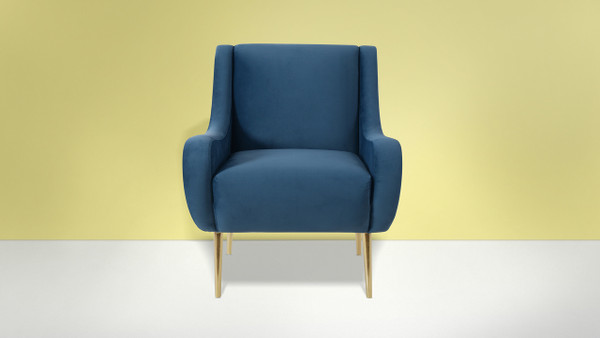 Corina Accent Chair, Satin Teal
