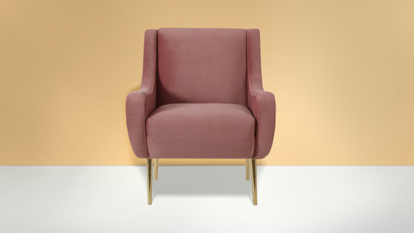 Corina Accent Chair, Ash Rose