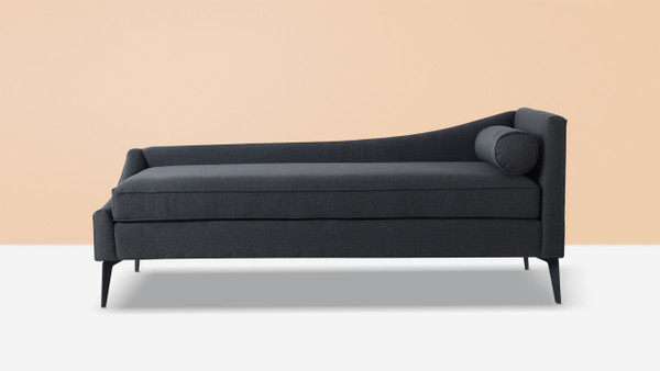 Kinsley Chaise, Dark Grey