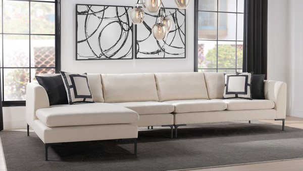 Weylyn LAF Chaise Sectional Sofa, Sky Neutral