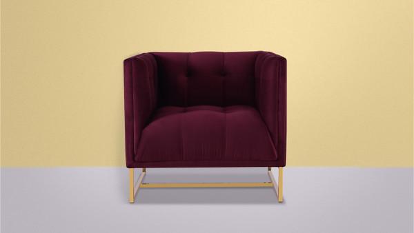 Royce Accent Chair, Burgundy