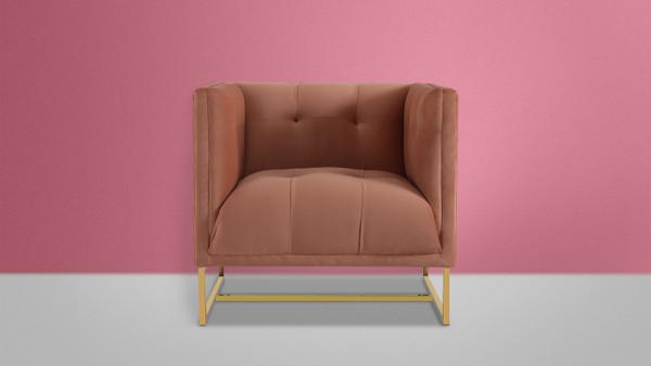 Royce Accent Chair, Peach Orange
