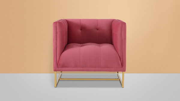 Royce Accent Chair, Garnet Rose