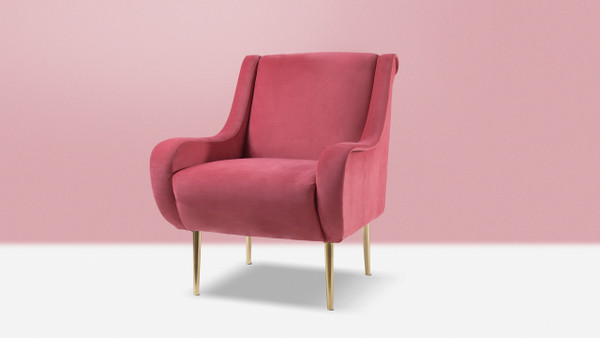 Corina Accent Chair, Garnet Rose