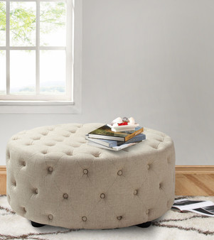 Savannah Round Cocktail Ottoman