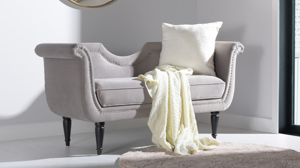 Luna Upholstered Loveseat, Opal Grey