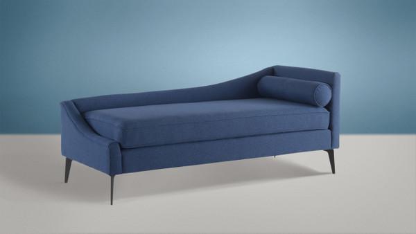 Kinsley Chaise, Dark Sapphire Blue