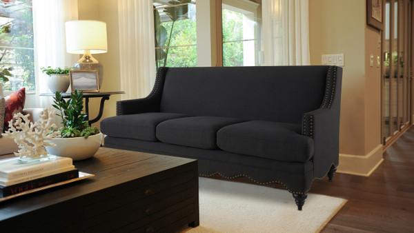 Marisole Recessed Sofa, Jet Black