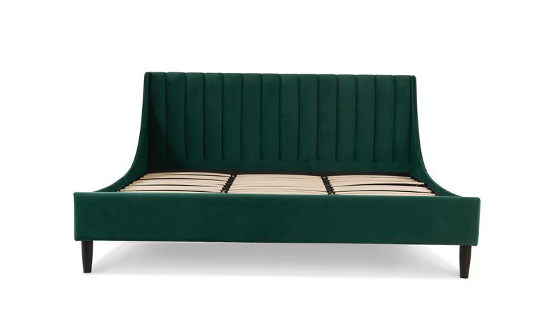 Aspen Upholstered King Bed, Evergreen