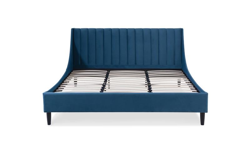 Aspen Upholstered Bed, King, Satin Teal
