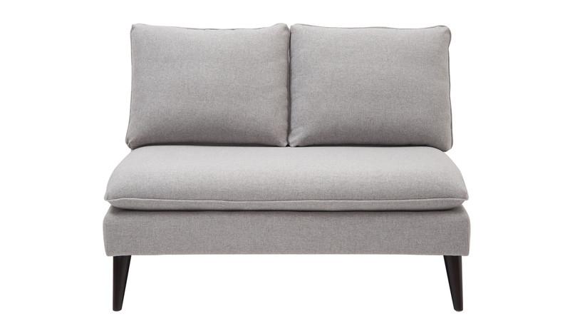 Vera Upholstered Loveseat, Light Grey