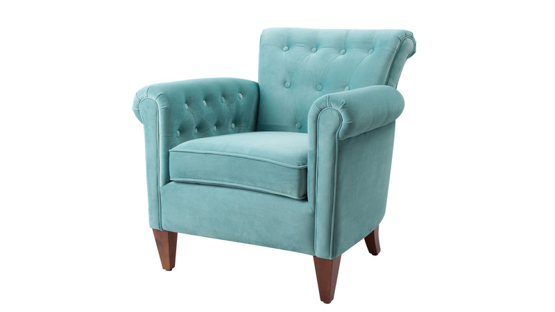 Giovanni Tufted Accent Chair, Arctic Blue