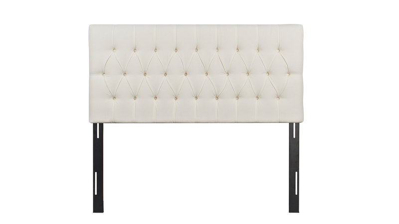 Maya Tufted Headboard, Antique White (Queen Size)