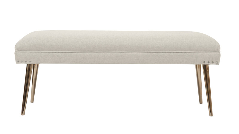 Pamela Entryway Bench, Oyster Grey