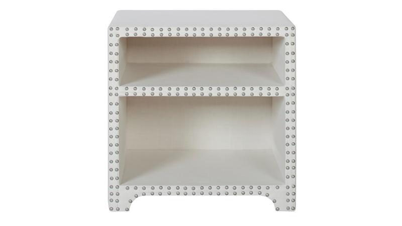 Jason Nailhead Side Table, Antique White