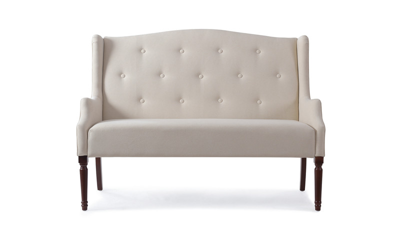 Izzy Tufted Settee, Sky Neutral