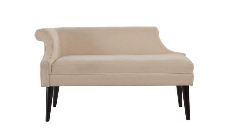 Jenna Single Roll Arm Settee, Crème Brulee