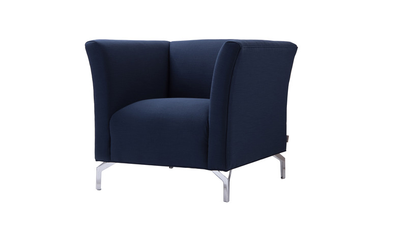 Camilla Mid-Century Modern Chair, Midnight Blue