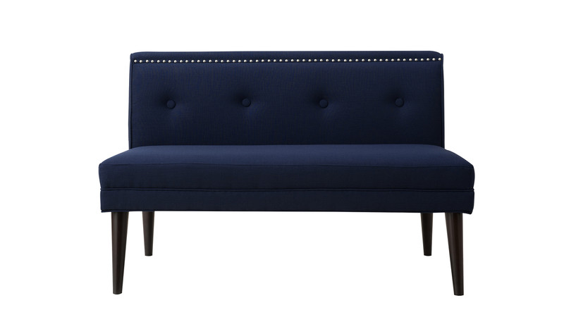 Madison Accent Settee, Midnight Blue