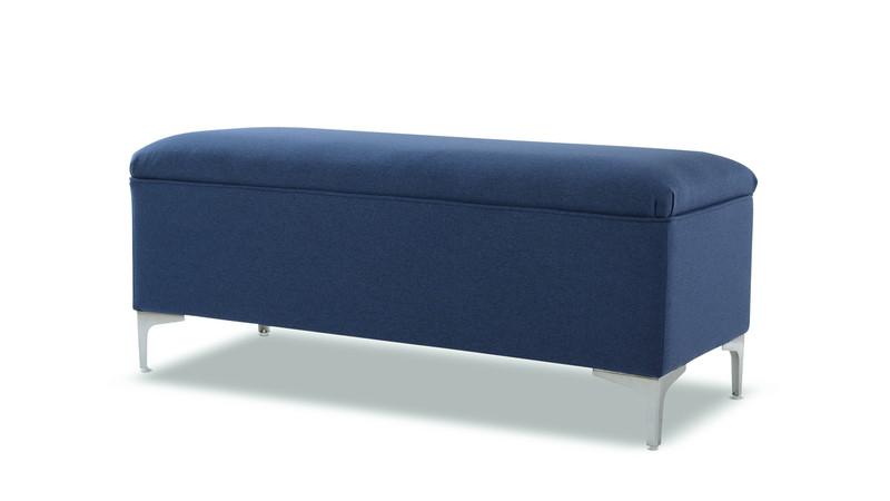 Serina Storage Bench, Dark Sapphire Blue