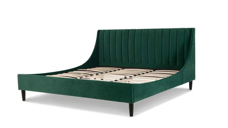 Aspen Upholstered Platform Bed, King, Evergreen