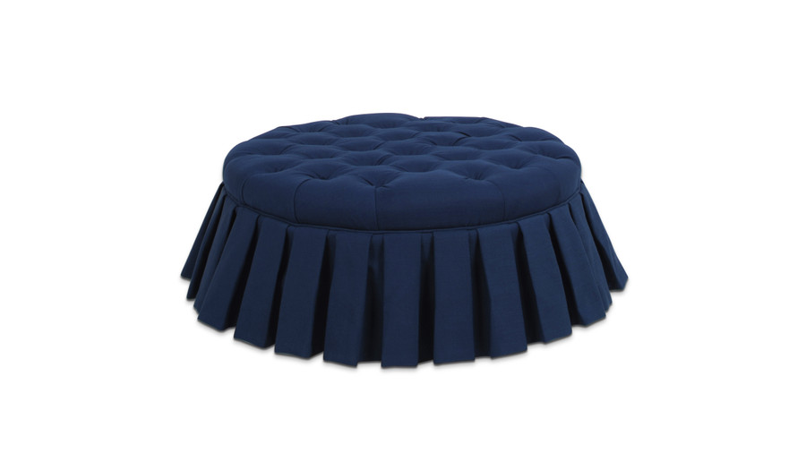 Luciana Tufted Cocktail Ottoman with Skirt