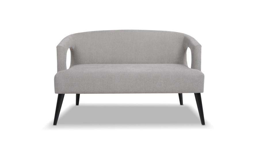 Malachi Mid-Century Modern Upholstered Settee