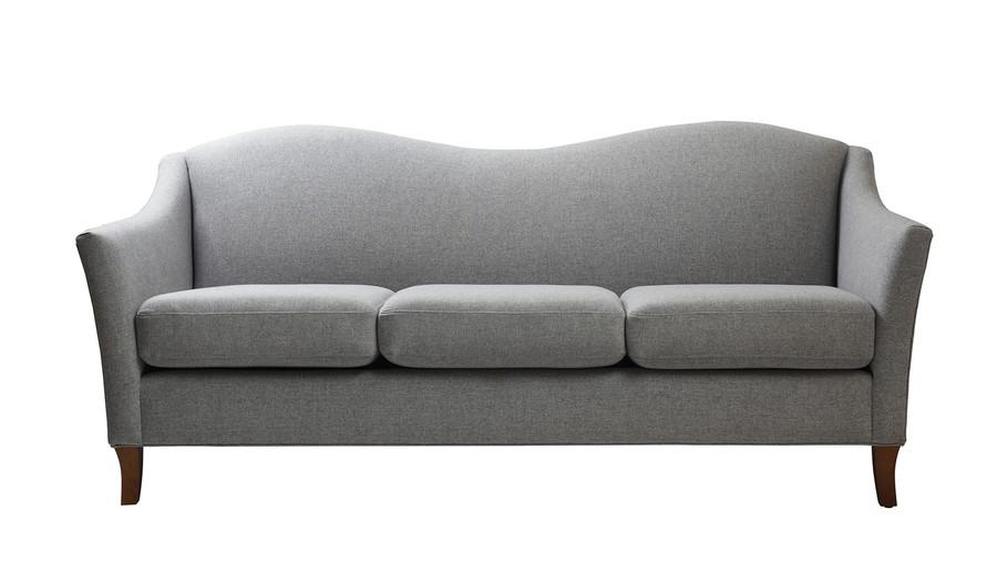 Julian Camel Back Arm Sofa, Light Grey