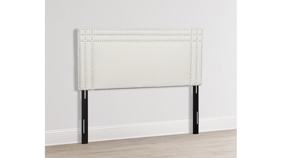 Shea Upholstered Headboard, Antique White (King Size)