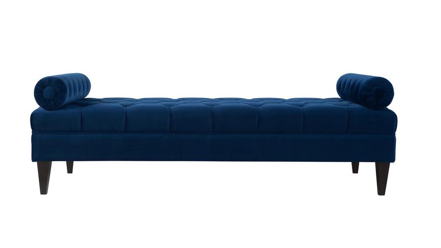 Robert Tufted Sofa Bed, Navy Blue