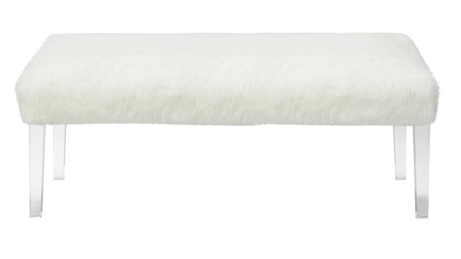 Tabitha Faux Fur Entryway Bench