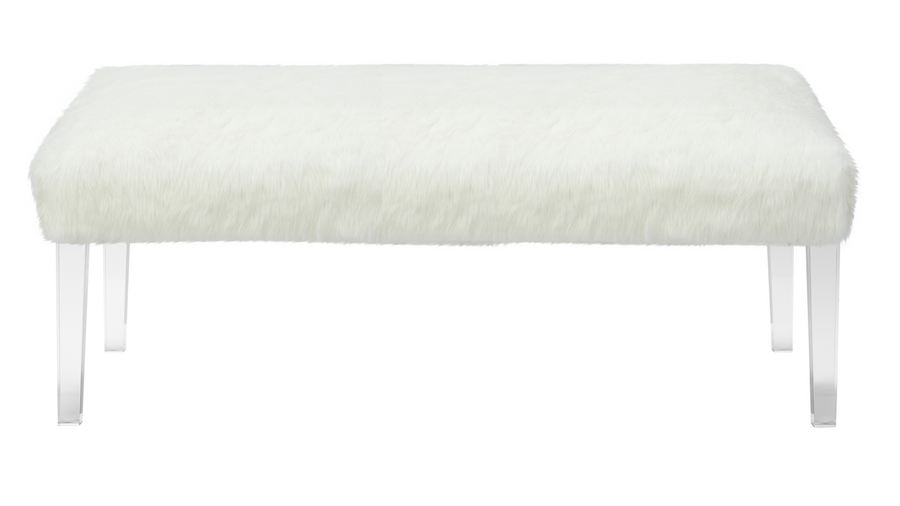 Tabitha Faux Fur Entryway Bench