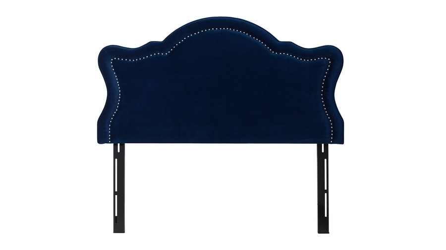Legacy Upholstered Headboard, Navy Blue (Queen Size)