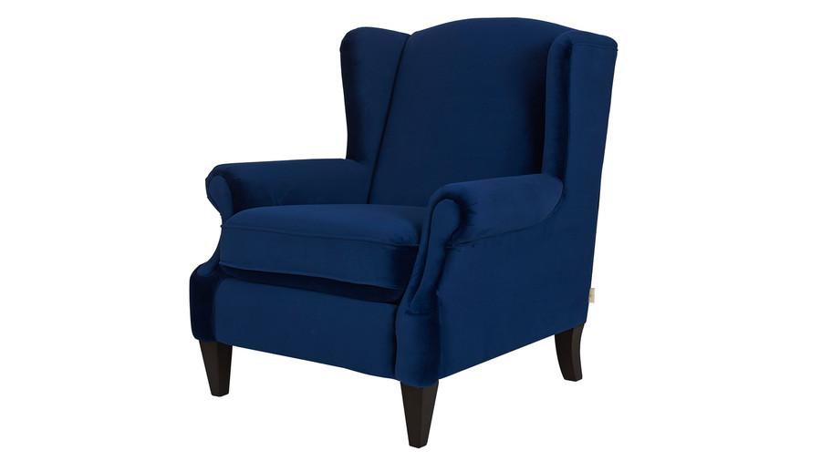 Anya Arm Chair, Navy Blue
