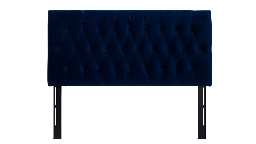 Maya Tufted Headboard, Navy Blue (Queen Size)