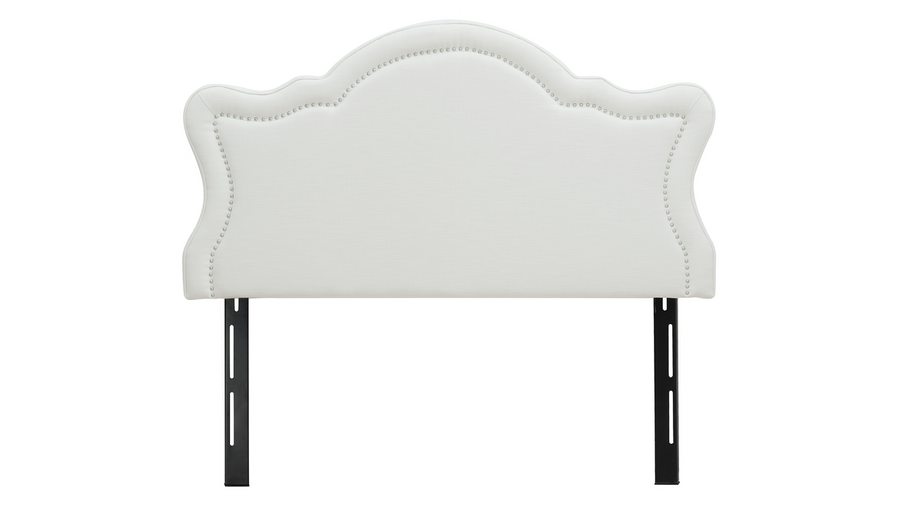 Legacy Upholstered Headboard, Antique White (Queen Size)