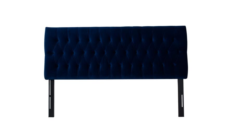 Maya Tufted Headboard, Navy Blue (King Size)
