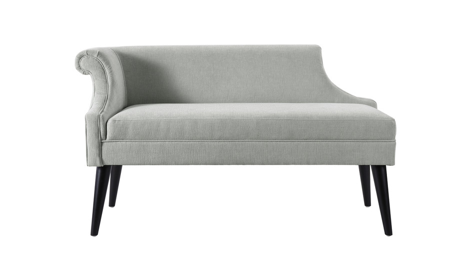 Jenna Single Roll Arm Settee, Mineral Grey