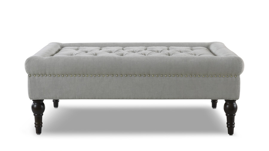 Giselle Cocktail Ottoman, Mineral Grey