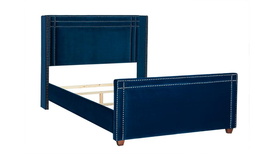 Elle Wingback Upholstered Bed